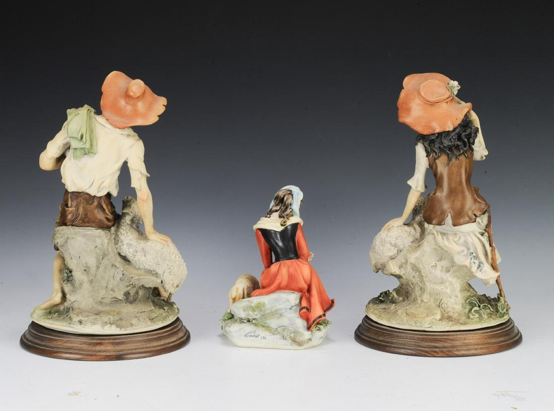 (3) Capodimonte Porcelain Figures with Sheep - 3