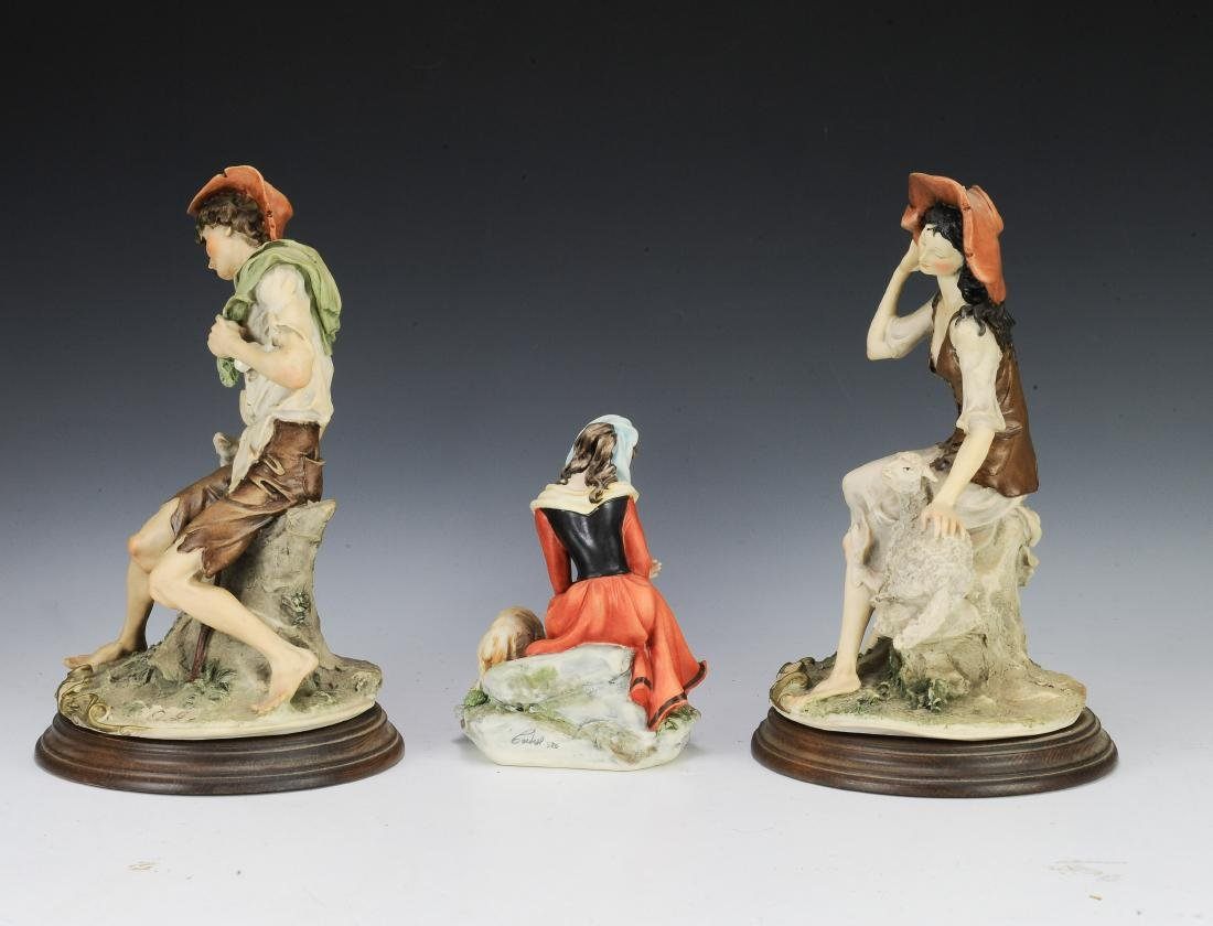 (3) Capodimonte Porcelain Figures with Sheep - 4