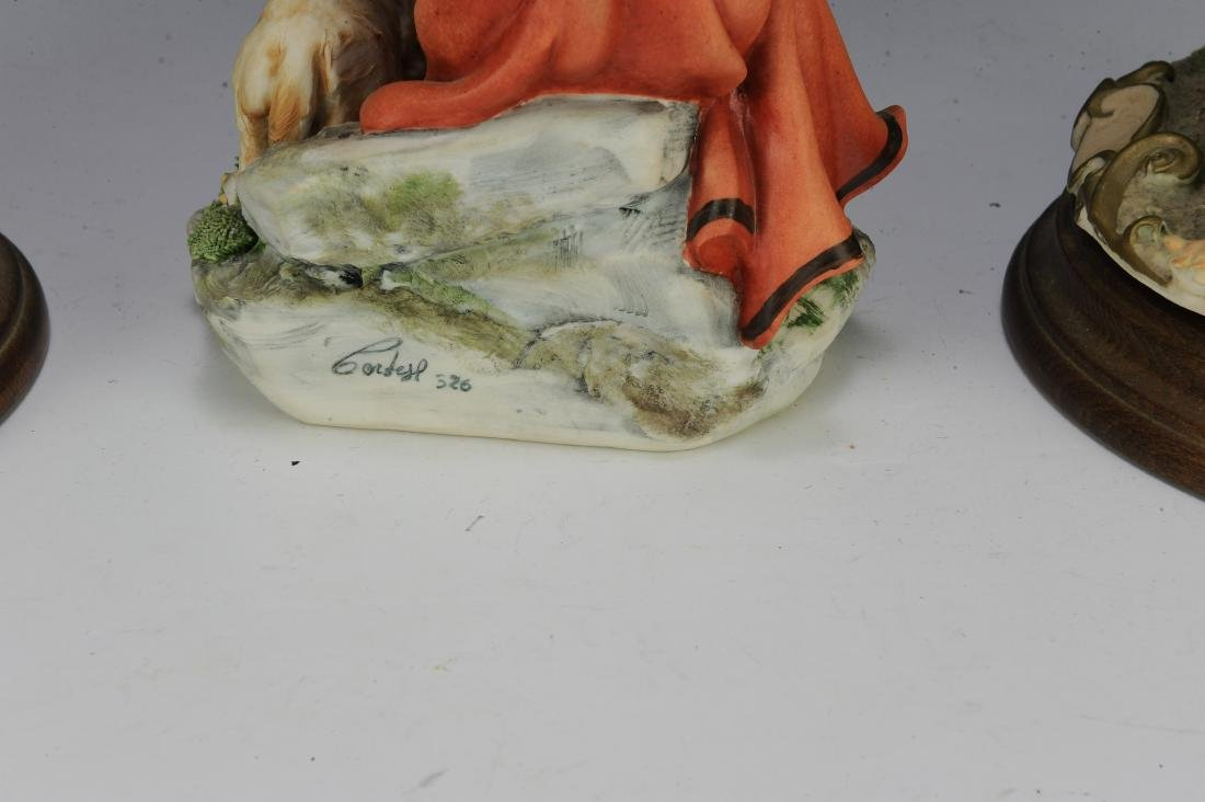 (3) Capodimonte Porcelain Figures with Sheep - 5