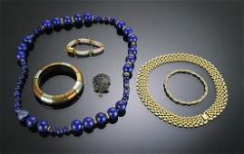 (6) Costume Jewelry inc. GF, Silver & Lapis