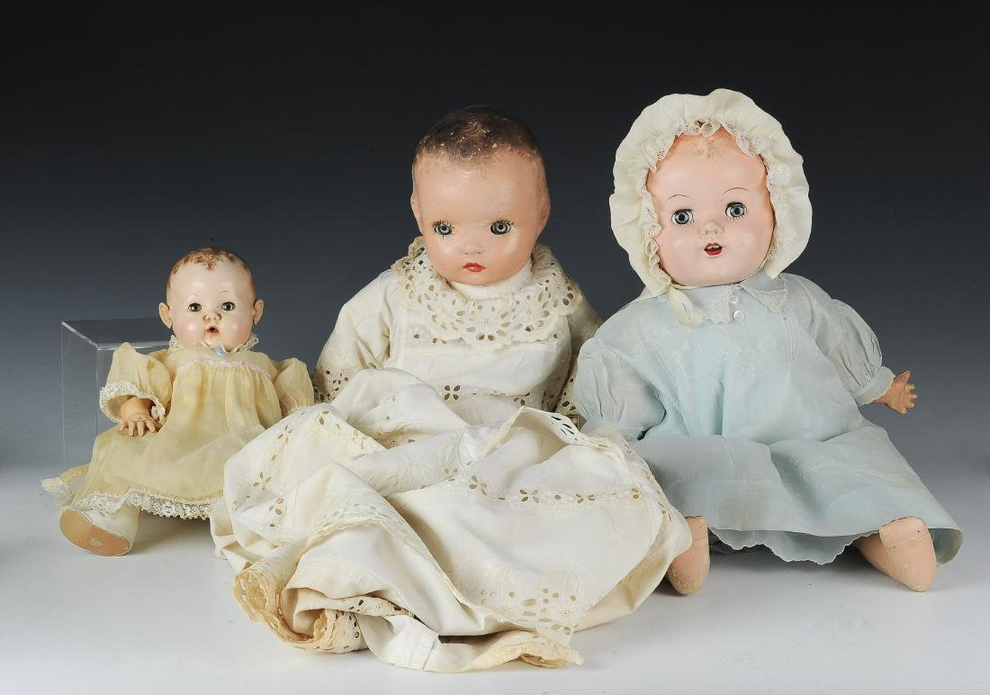 (3) Composition Baby Dolls inc Dy-Dee