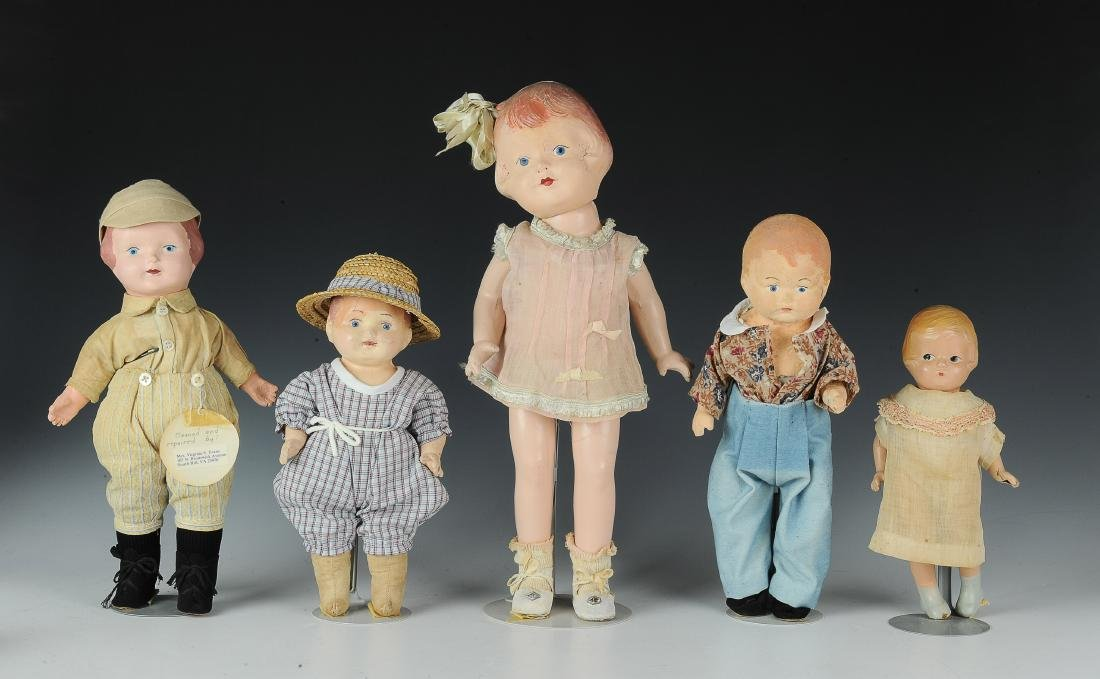 (5) Effanbee & Other Composition Dolls