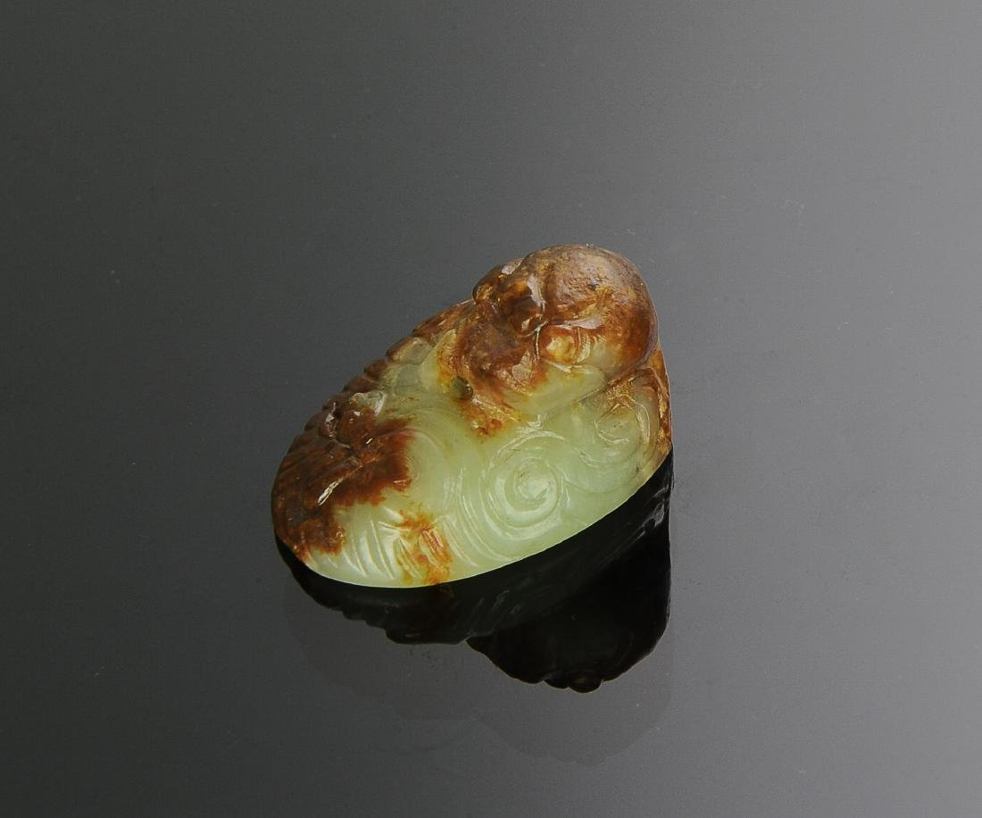 Chinese Yellow Jade Qilin, 18th C. or Earlier - 2