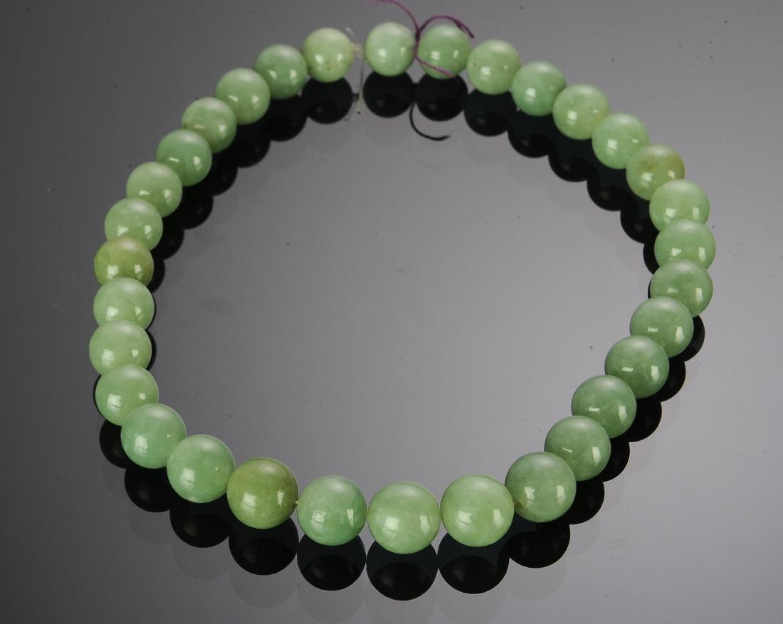 Chinese Jadeite Bracelet, Early 20th Century - 2