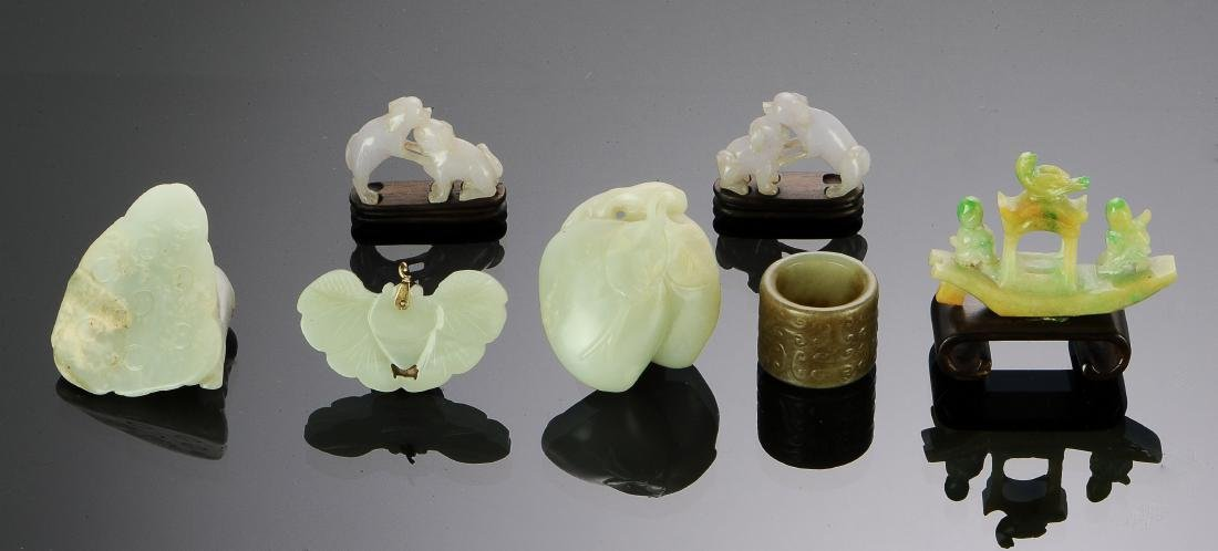(7) Chinese Jade & Jadeite Carvings, 18th-Republic