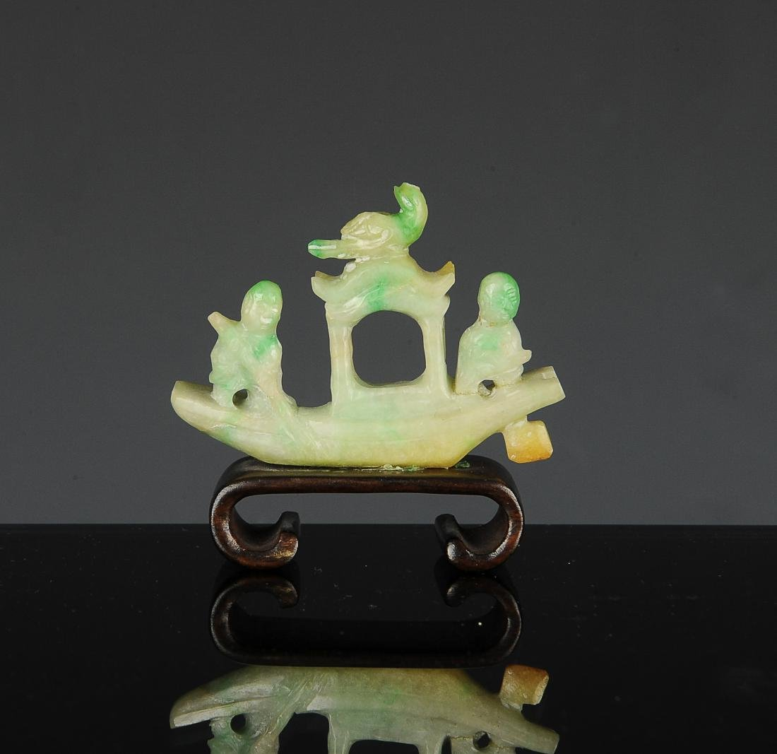 (7) Chinese Jade & Jadeite Carvings, 18th-Republic - 3