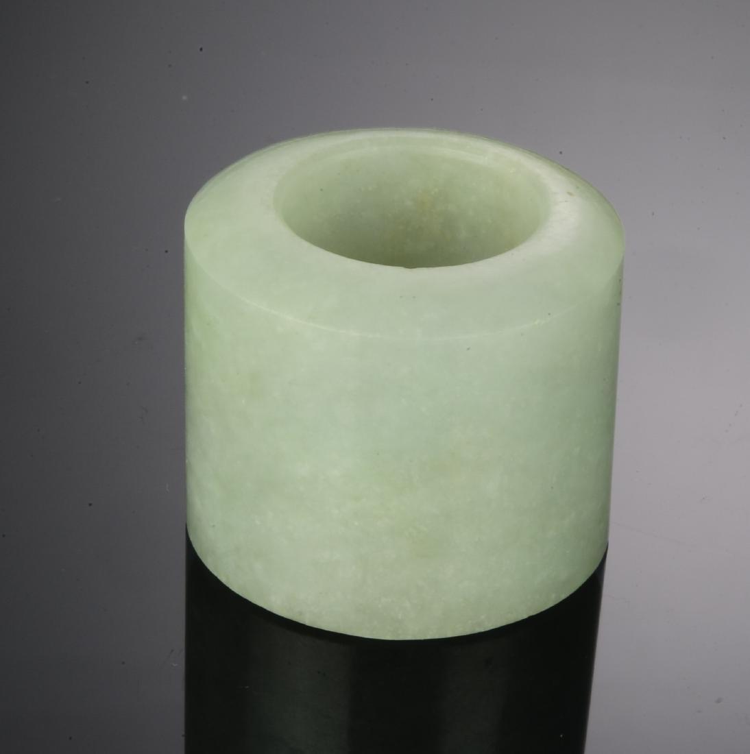 (6) Chinese Jade & Stone Archers Rings 18 - 19 C. - 9