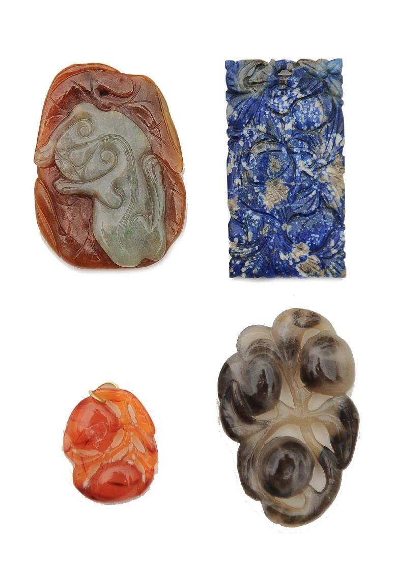 (9) Chinese Stone & Jade Carvings, 18th-19th C. - 7