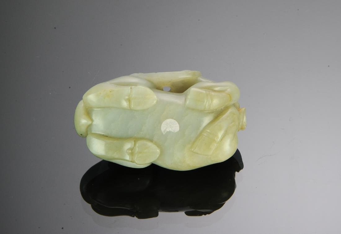 Chinese Carved Jade Ox, Early 18th Century - 6