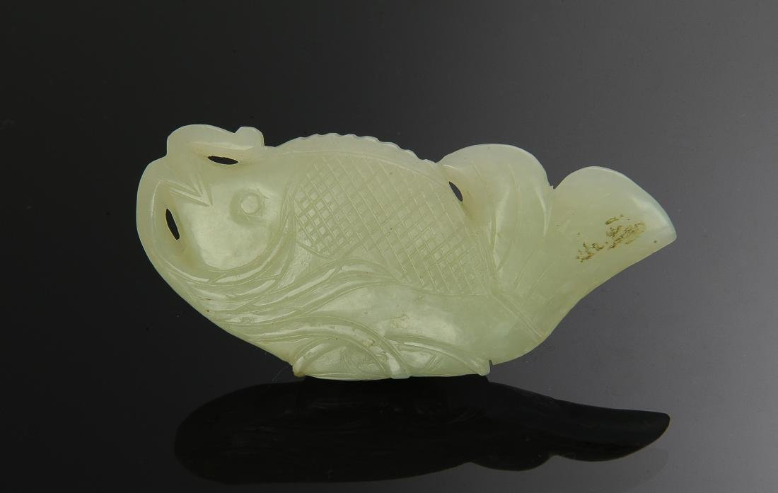 Chinese Jade Carving of Fish, Ming Dynasty