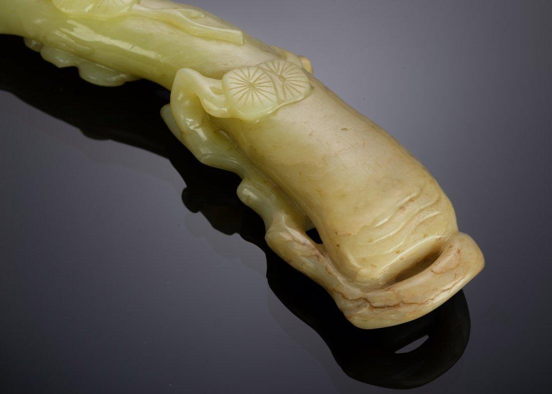 Yellow Jade Lingzhi Shaped Ruyi, 18th-19th Century - 6