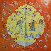 Large Pair Chinese Famille Rose Plaques, Republic