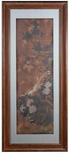 Chinese Painting of Pheasant Birds on Silk Copy