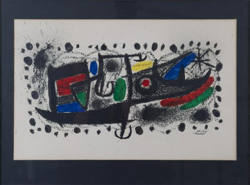 Joan Miro Collectors Guild Lithograph Star Scene