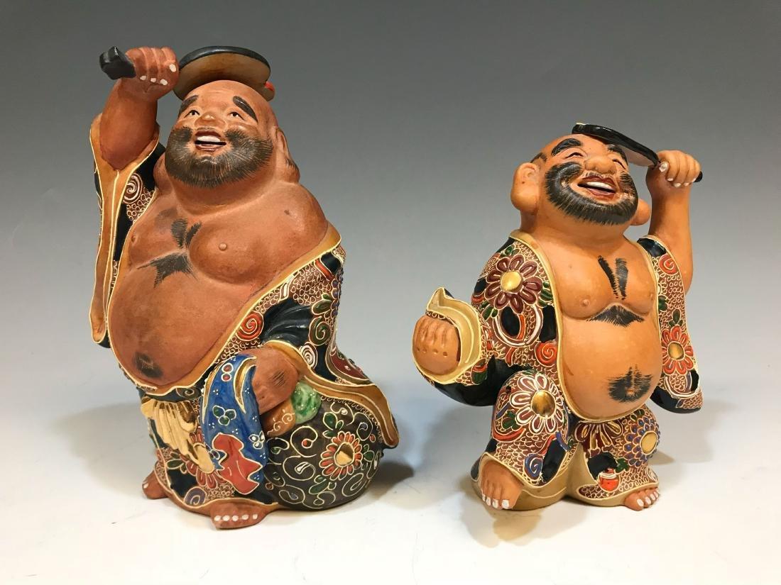 (4) Japanese Satsuma Ceramic Hotei Figures II - 3