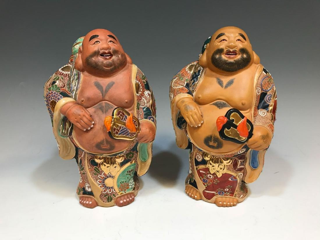 (4) Japanese Satsuma Ceramic Hotei Figures II - 4