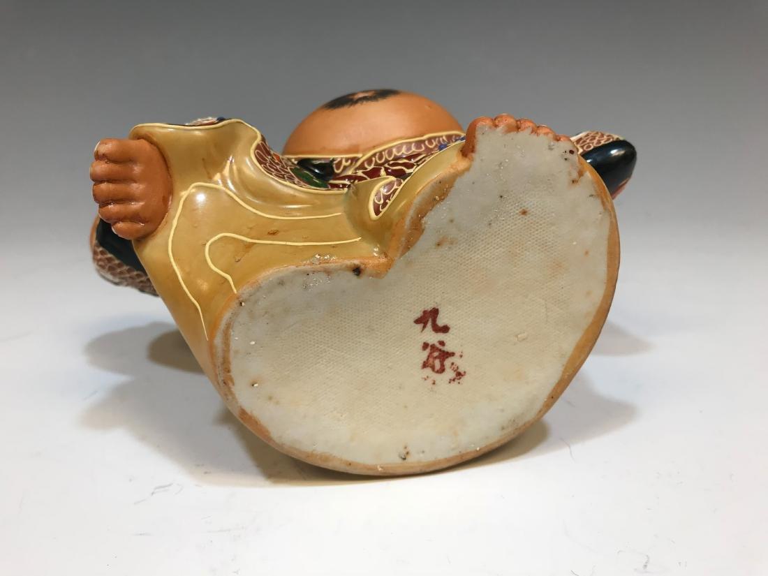 (4) Japanese Satsuma Ceramic Hotei Figures II - 6