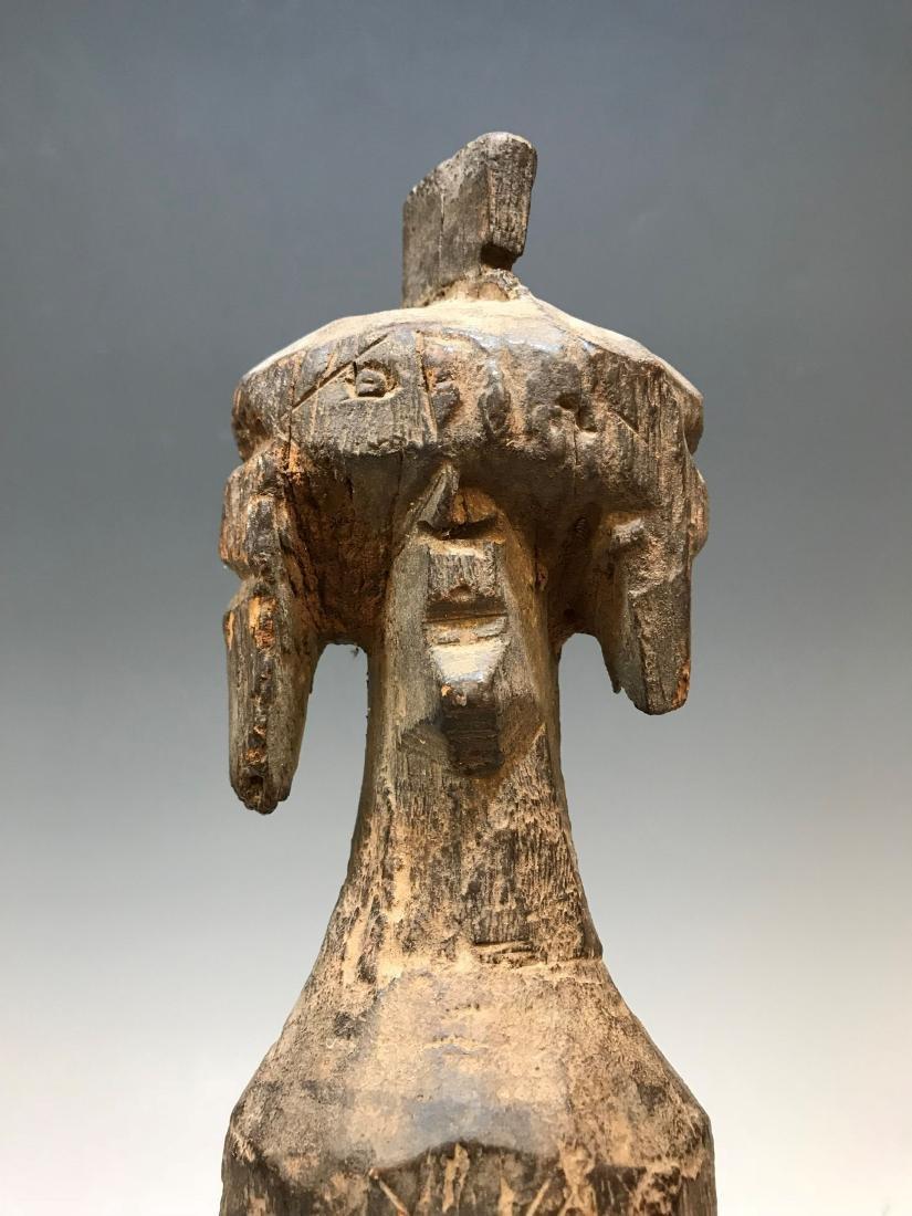 Vintage African Mumuye Carved Wood Figure - 3
