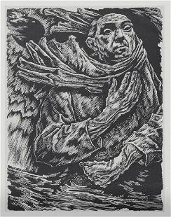 1947 Hans Orlowski Signed Woodcut in Prolog Book