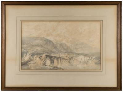JMW Turner Watercolor Painting Bonneville in Savoy