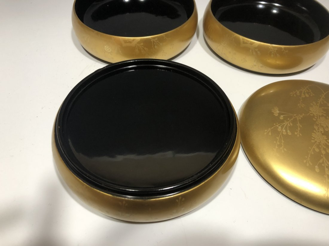 (8) Japanese Lacquer Stacking Boxes & Objects - 10