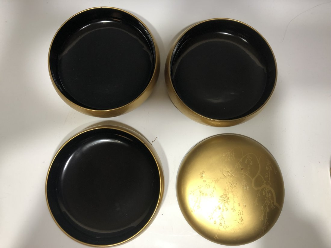 (8) Japanese Lacquer Stacking Boxes & Objects - 9