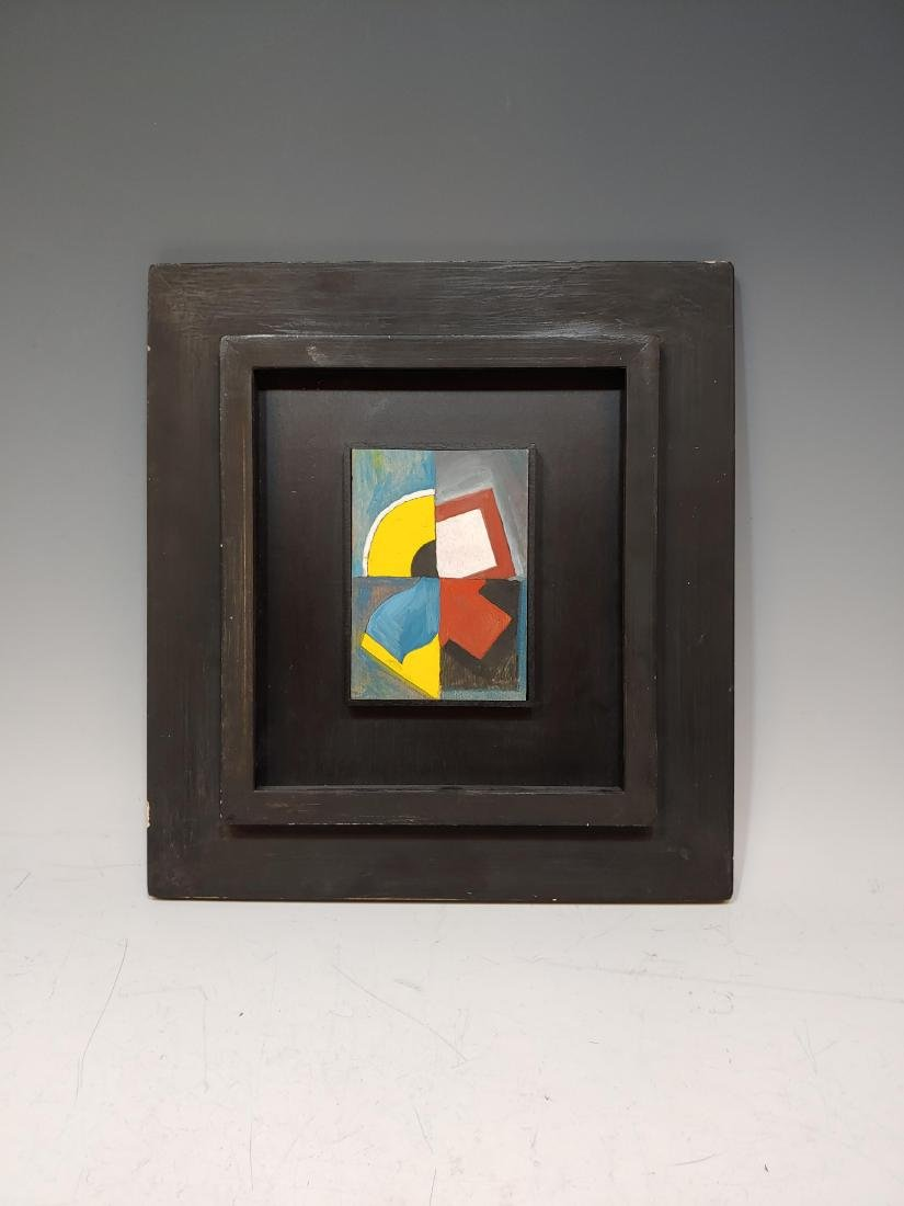 Dutch Mid Century Abstract Oil Painting