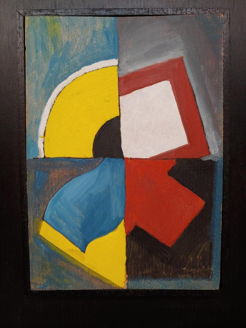 Dutch Mid Century Abstract Oil Painting - 2