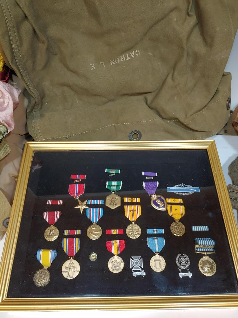 Large WWII Archive of Mervin J Frost ID'ed Medals - 2