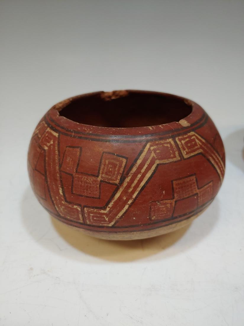 (3) Pre-Columbian Inca Ceramic Bowls & Cup - 3