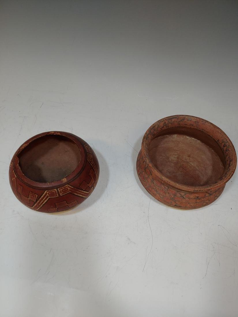 (3) Pre-Columbian Inca Ceramic Bowls & Cup - 4