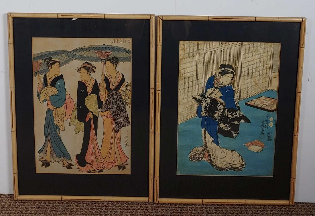 (2) Japanese Edo Period Woodblocks