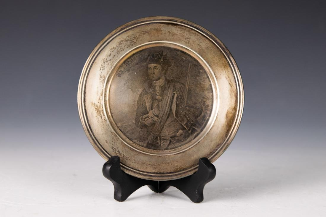 S Kirk & Son Sterling Plate with George Washington