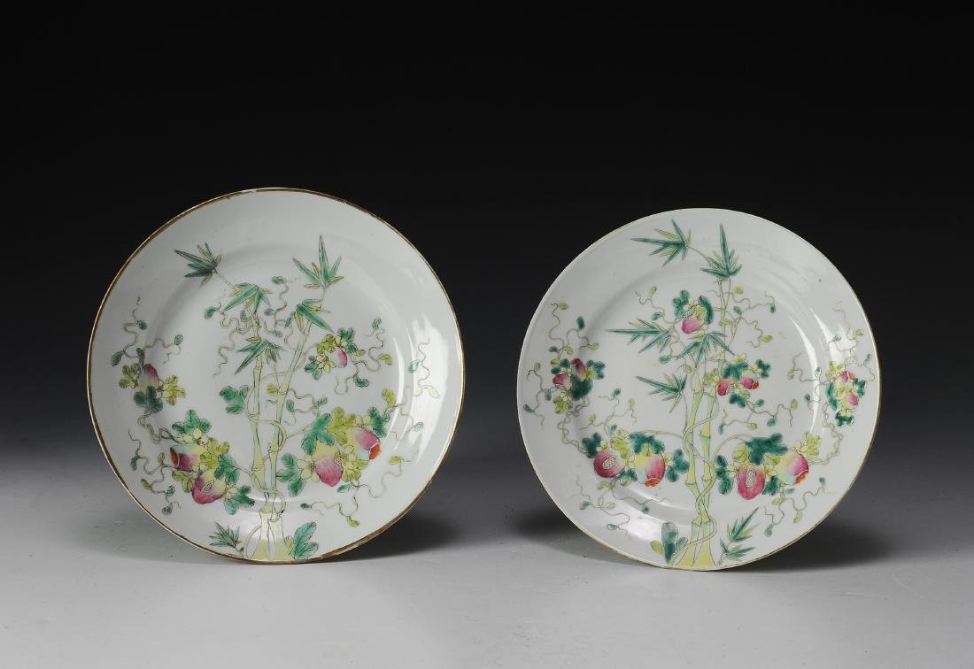 Pair of Imperial Famille Rose Plates, Guangxu