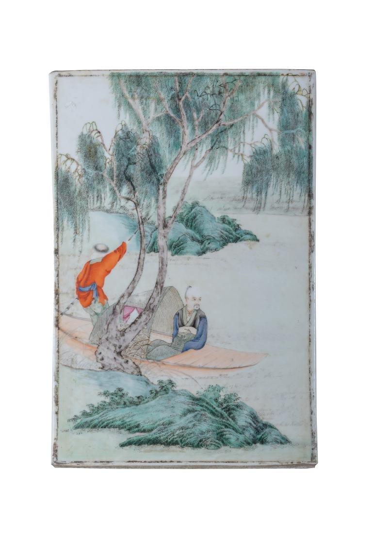 Chinese Famille Rose Porcelain Plaque,Republic