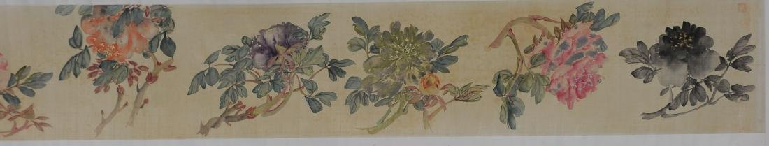 Chinese Handscroll of 12 Flowers, Wu Dan Ping