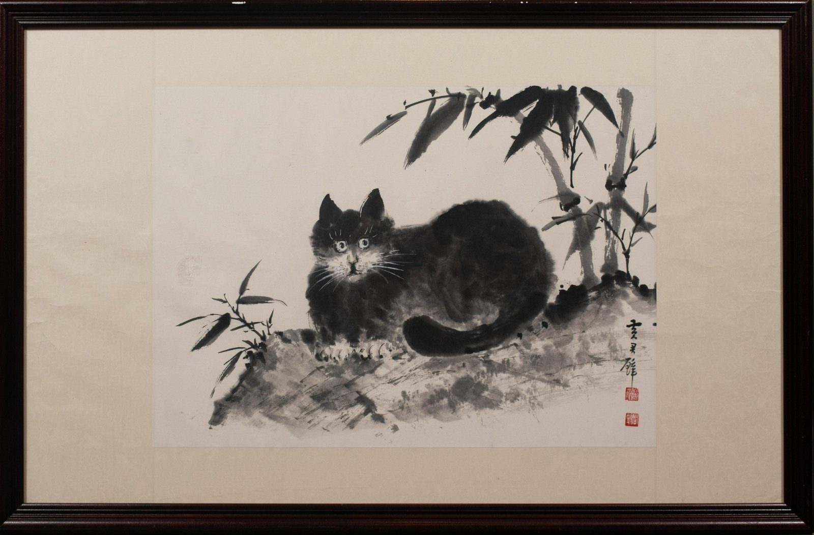 Chinese Painting of Cat, Huang Junbi