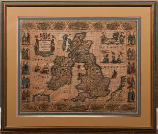 Hondius Magnae Britanniae et Hiberniae Tabula 1617