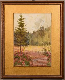 Dora Wheeler Keith Watercolor Onteora