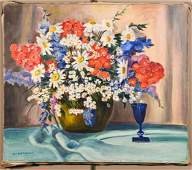 Francis F. Brown Oil/Canvas Floral Still Life
