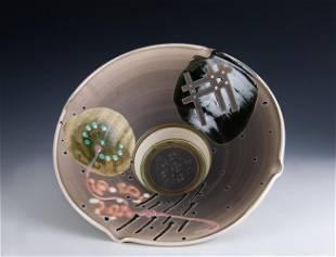 Jamie Davis Raku Ceramic Bowl