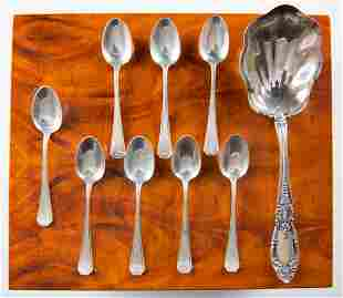 9 Towle Sterling Jelly Wallace Demitasse Spoons