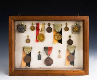 13 Yale Track Medals Gold Sterling