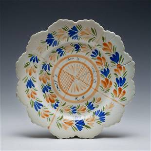 Quimper French Faience Glaze Test Plate