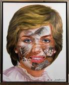 Huang Yan Acrylic on Canvas Princess Diana, 2008