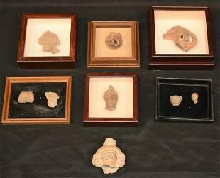 (9) Pre-Columbian Head Fragments