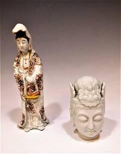 Blanc de Chine Guanyin Head Porcelain Guanyin