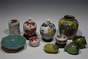 10 Chinese Porcelain Inc Republic Vase