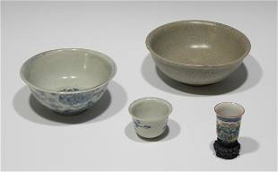 4 Chinese Porcelain and Pottery Pieces