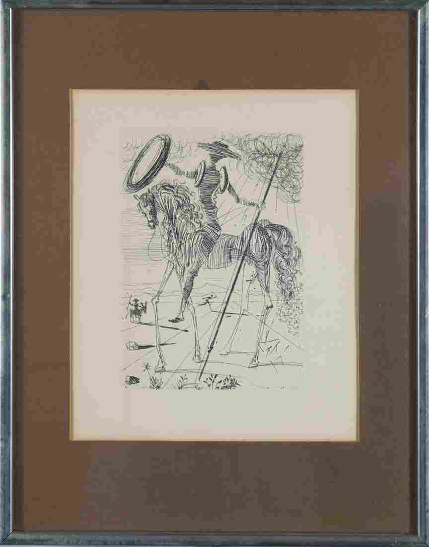 Dali Etching Don Quixote from The Collectors Guild